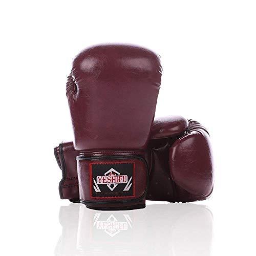 BUDBYU Adult Boxhandschuh Sanda Muay Thai Kampfsporthandschuhe Retro Personality Professionelle Boxhandschuhe Atmungsaktiver Komfort Reißfest Abriebfeste Boxhandschuhe Fitness-Protektor
