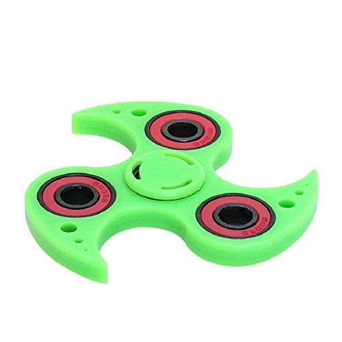 Preisvergleich Produktbild Hand Fidget Spinner LED Lichter Fidget Hand Spinner Spielzeug blinkt EDC Anti-Stress Fidget Finger Spielzeug leuchten ADD Angst Langeweile (D)