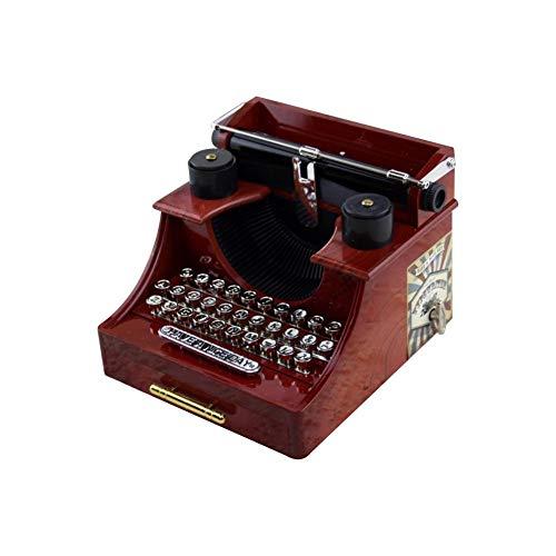 Sunneey Spieluhr, Vintage Schreibmaschine Spieluhr, Dekorative Box Spielzeug Handwerk Beste Geschenke, Handwerk Beste Geschenke