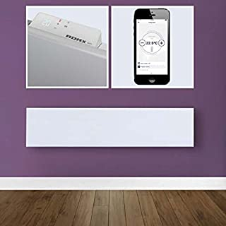 Adax NEO WIFI Modern Slim Electric Wall Mounted Panel Heater, Low profile/Narrow HOME AUTOMATION HEATING, IPX4, LOT 20 Complaint Efficient Eco friendly/Energy saving, Convector Radiator, 1000W, White