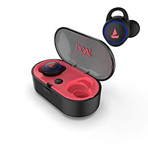 boAt Airdopes 311V2 True Wireless Ear-Buds with BT V5.0, Up to 15.5H Total Playback, IPX5 Water Resistance, Built-in Mic and Voice Assistant(Raging Red)