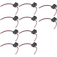 Mintice™ 10 X Calibro 16 scatola porta fusibili ATC In-Line AWG filo di rame 12V 30A lama presa di serie