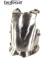 Medieval Pecho tanque Warrior de acero Pecho harnisch de armadura Armadura tanque placa LARP Vikingo Medieval diferentes tamaños, plata, medium