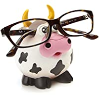 by-Bers Brillenhalter Design Bulle, Kuh, Büffel, Rindvieh, handbemalt, lustig, für Kinder und Junggebliebene