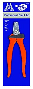 Millers Forge Dog Nail Clipper with Surgical-Steel Blades, Plier Style, Medium, 5-3/4-Inch, Orange