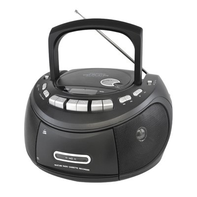 lloytron-portable-stereo-cd-and-tape-player-with-am-and-fm-radio-matt-black