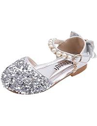 8d932e9f9a5af Chaussures Princesse Paillettes Sandales été Bow Chaussures Fille Fete  Mariag Ballerine Sandales ...
