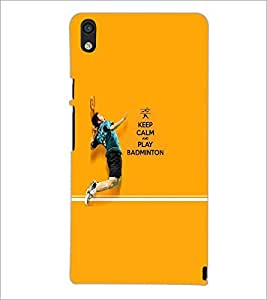 PrintDhaba Quote D-5951 Back Case Cover for HUAWEI ASCEND P6 (Multi-Coloured)