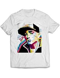 Publiassia Stamperia Eminem T- Shirt 22 Hip Hop Rap Maglietta Uomo Donna  Slim Shady 2018 7a0f4e23ec8e