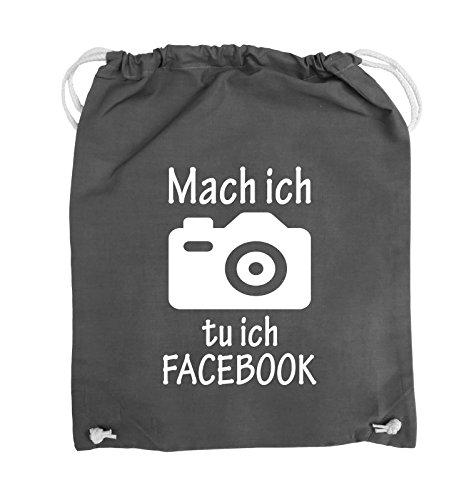 Borse Comiche - Scattare Una Foto Che Faccio Facebook - Fotocamera - Borsa - 37x46cm - Colore: Nero / Rosa Grigio Scuro / Bianco
