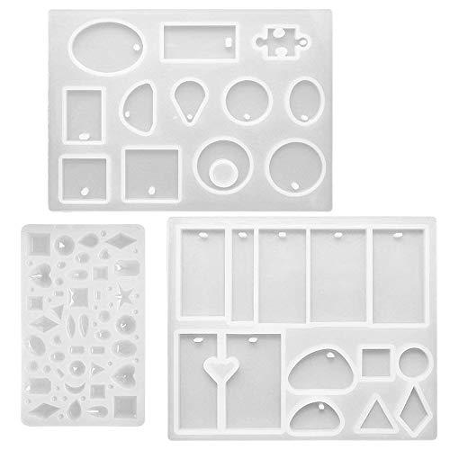 FineGood - Moldes resina silicona manualidades, 3