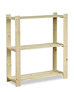 Étagère 3 étages 90 x 80 x 28 kellerregal étagère meuble de rangement étagère b-26 hIT