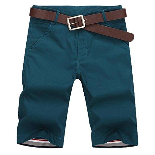 Shorts Herren Sommer LHWY Männer Neue Mode Sport Atmungsaktive Mode Hosen Sommer Fitness Casual Laufhose Reißverschluss (5XL, Blau)