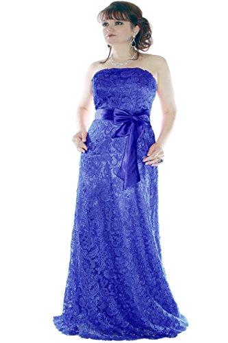 Kleid Dress Damen Spitzenkleid Abendkleid Lang Partykleid Cocktailkleid Brautkleid Hochzeitskleid Ballkleid Festkleid Bodenlang Juju & Christine div. Farben Größen Blau