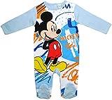 Mickey Mouse Strampelanzug Disney Jungen (Blau, 68)