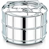 Honest Stackable Steamer Insert Pans For Instant Pot Accessories With Vent Holes To Equalize Steam, Cook Vegetables, Meat, Fish, Rice & Fits 5, 6, 8 Litres Pots Pressure Container System