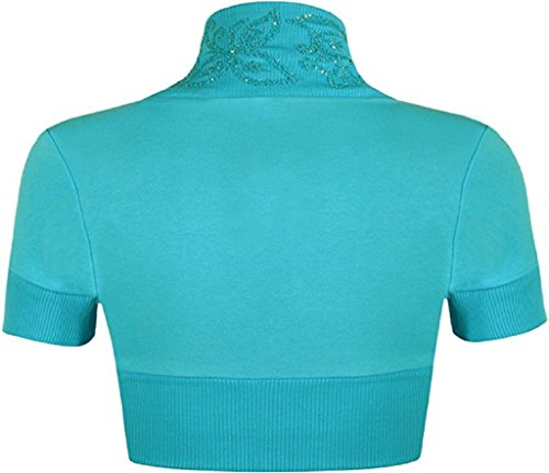 Islander Fashions -  Coprispalle  - Donna Short Sleeves Turquoise