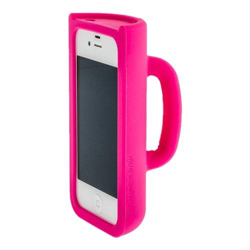 iPhone 4S / iPhone 4G MUG Case Designer Schutzhülle Hülle Tasse ROT mit Selbststandfunktion (Fotos Filme anschauen) Pink