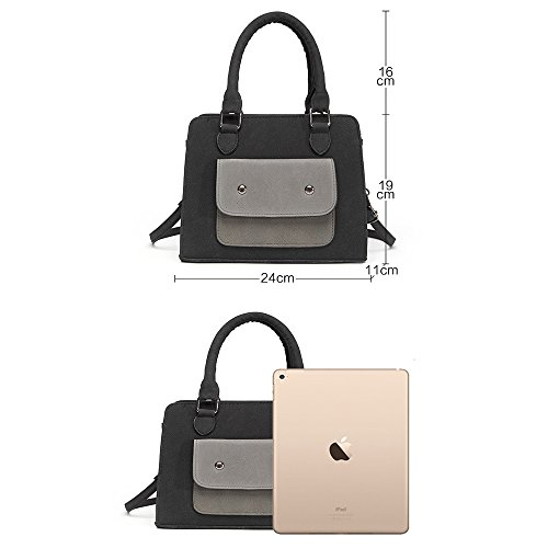 Anne, Borsa a secchiello donna nero Black Grey