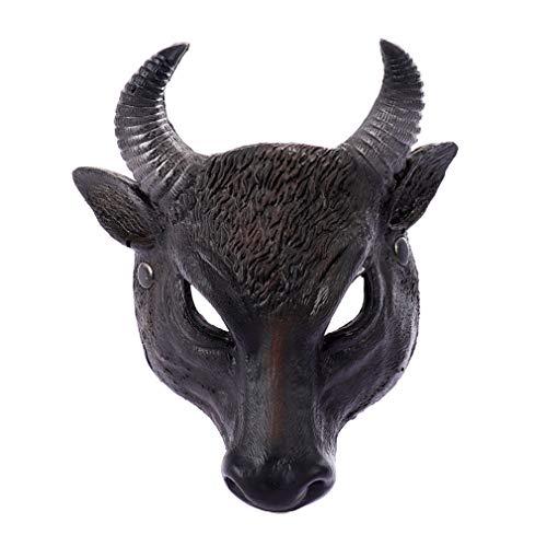 Kostüm Erwachsene Büffel Für - QNFNB Halloween Büffel Halber Kopf Maske Kostüm Party Prop