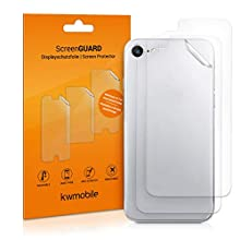 kwmobile Set of 3x Back Covers Compatible with Apple iPhone 8 / SE (2020) - Transparent Protective Films for Rear Side of Smartphone