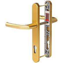 Hoppe Birmingham - Juego de manivelas con muelle de 92 PZ/92 mm para puertas de PVC y PVC-U (2 unidades, anchura de la manivela 215 mm)