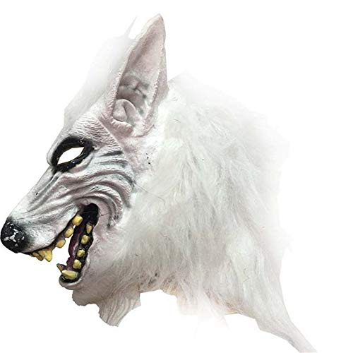 ANFLY Gruselige Halloween Maske Party Dekore Wolfskopf Maske Kostüm Theater Requisite Latex Gummi Neuheit Masken Latex Tier Masken - Theater Requisiten Und Kostüm