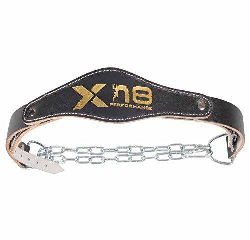 XN8 Gewicht Split Dip Gürtel Leder MMA Rückenstütze Kette Abbildung 2