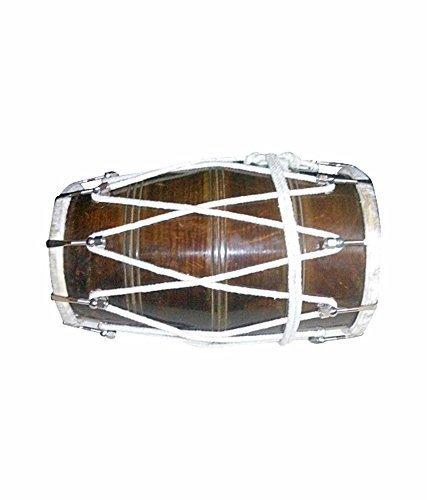 Musical Bolt-Tuned Dholak, Sheesham Holz Tragetasche, Tunning Spanner