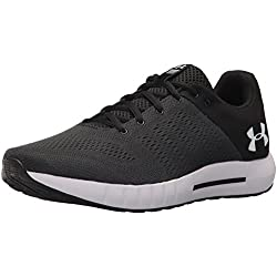 Under Armour Micro G Pursuit, Zapatillas de Running para Hombre, Negro (Anthracite/Black/White 102), 42.5 EU