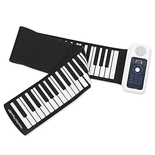 Price comparison product image MSQL Piano Portable Roll Up Piano Keyboard,  88 Key LED Digital Display,  battery or USB powered