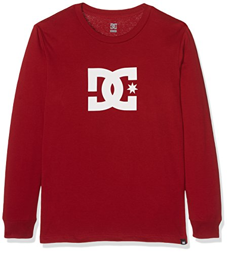 DC Shoes Star Ls Langarm-Shirt, für Kinder, Jungen, Kinder, EDBZT03232, rot (Rio Red Solid), 16/XL Dc Shoes Quiksilver