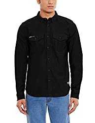 Superdry Mens Casual Shirt(5054265720833_M40000BN_S_Black)