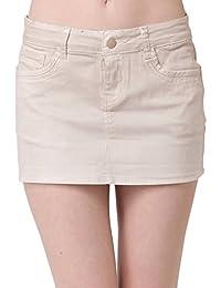 Miss Coquines - Mini jupe beige - Femme - Jupes