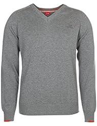 """XFORE golf pull tricot """"Bolton"""" à col V pour homme manches longues en coton, en gris"""