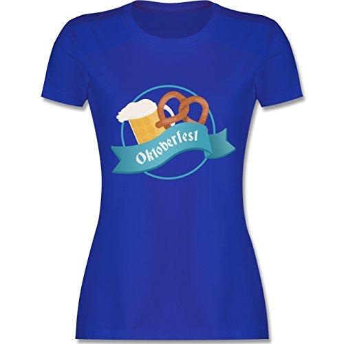 Shirtracer Oktoberfest Damen - Oktoberfest - Damen T-Shirt Rundhals Royalblau