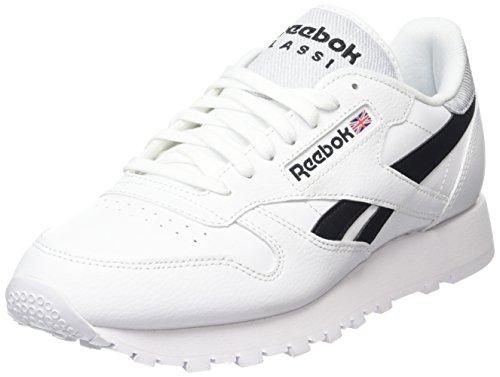 Reebok Classic Leather Pop, Zapatillas para Hombre, Blanco (White/Blac