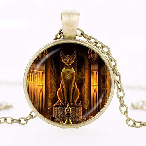 Collana Uomo Antica Egizio Dea Dea Collana Egitto Signore Ciondolo Fatto A Mano Vetro Collana Gioielli Amuli Accessori Amuli