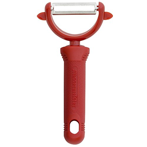 (Serrated Swivel Y-Peeler, Red) - Messermeister Pro-Touch Serrated Swivel Y-Peeler, Red - Gadgets Swivel Peeler