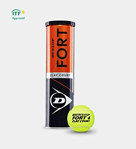 Dunlop Fort Clay Court - Tennisbälle - 12 Bälle (3 Dosen mit je 4 Bällen / 3 Tin x 4 Balls)  - gelb  - optimaler Trainingsball - Top-Preis Leistung