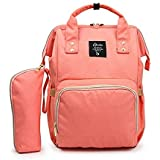 T-Bags Mommy and Baby Multi-Functional Large Backpack Diaper Bag with Feeding Bottle (Orange)