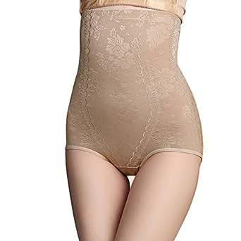 Colleer Damen Miederslip Miederpants Unterhose Panty Slips Hohe Taille Figurformendes Kompressions Hose mit Bauchweg-Effekt Spitzenhöschen Butt Lifter Shaper Shapewear (M, Hautfarbe)