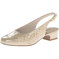 Trotters Dea Damen US 7.5 Gold Schmal Pumps Schuhe