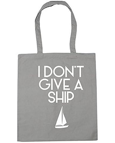 HippoWarehouse I Don't Give a Ship Tote Shopping Gym Beach Bag 42cm x38cm, 10 litres