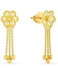 Malabar Gold & Diamonds 22KT Yellow Gold Drop Earrings for Women