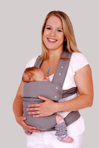 Marsupi Baby und Kindertrage I kompakte Bauch und Hüfttrage I L I Breeze / grau I genial einfach