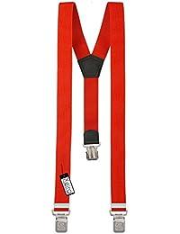 Xeira Bretelles de haute qualité pour Femmes / Homme avec 3 Extra fort Eagle clips dans 15 Couleurs - avec XL Eagle CLIP