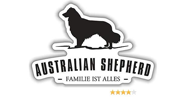 Aufkleber Australian Shepherd Wetterfester Auto