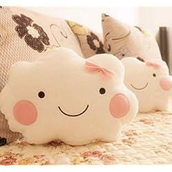 MOCHOAM MOCHO Am Cute Cloud Pillow Smile Face Pillow Mujer Blanca Almohada de Arco 1pcs