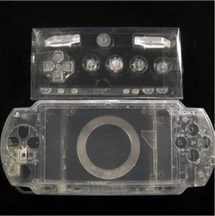 Laixing Gute Qualität Clear Crystal Housing Faceplate Case Cover fur PlayStation Portable PSP1000 Crystal Case Cover Faceplate
